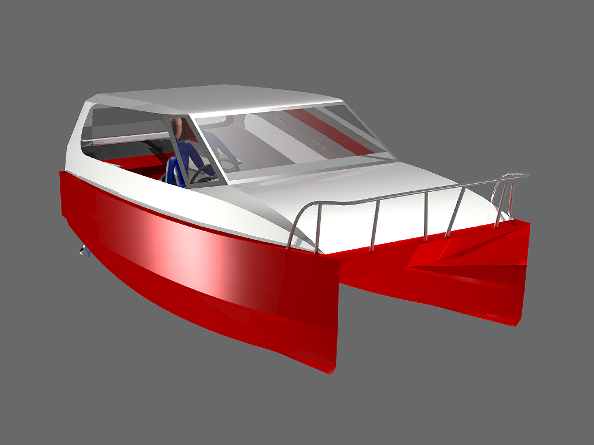 Plywood Power Catamarans | Lunada Design