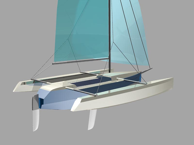 Stitch and Glue Trimarans | Lunada Design